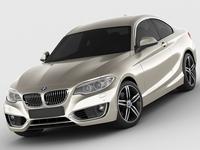 BMW 2 F22 2014 3D Model