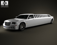 Chrysler 300C limousine 2009 3D Model