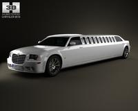 Chrysler 300C limousine 2009 3D Model