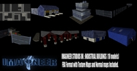 Industrial Buildings Pack 3D Model