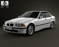 BMW 3 Series (E36) sedan 1994 3D Model