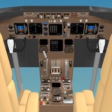 Cockpit Boeing 747-400 3D Model