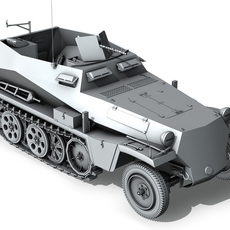 SD.KFZ.250 - Half-track troop carrier 3D Model