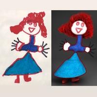 Redhead doll 3D Model