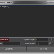 Bendy Joint Creator for Maya 1.0.0 (maya script)