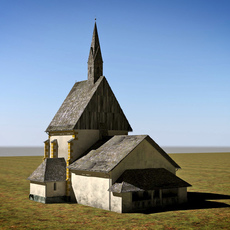chapel Berg Drautal 3D Model