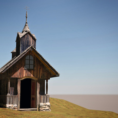 historic chapel Stuebing 3D Model