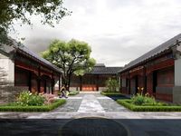 Chinese Ancient Building 002 3D Model