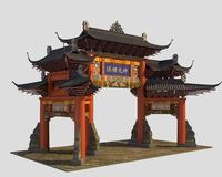 China ancient torii 3 3D Model