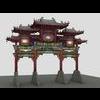 China ancient torii 4 3D Model