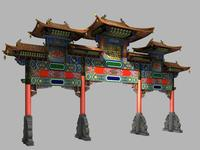 China ancient torii 5 3D Model