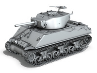 M4A3E2 - Sherman Assault Tank - Jumbo 3D Model