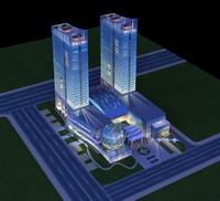 Architecture 192 office Building 3D Model