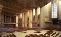 Church interior Sence 1 3D Model