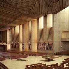 Church interior Sence 1 3D Model