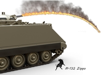 M-132 Zippo 3D Model