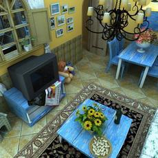 House 0220 - a complete interior sence 3D Model
