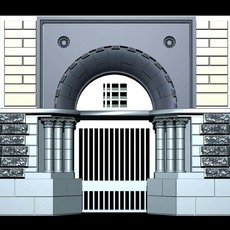 Deutschland Architecture Door collection 3D Model