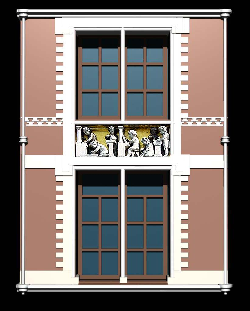 Holland architecture window collection 3d model for Architecture windows