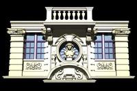 Belgium Architecture Windows collection 3D Model