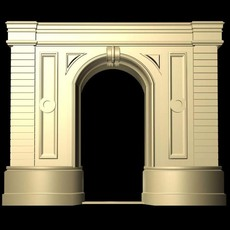 Luxemburg Architecture Door collection 3D Model