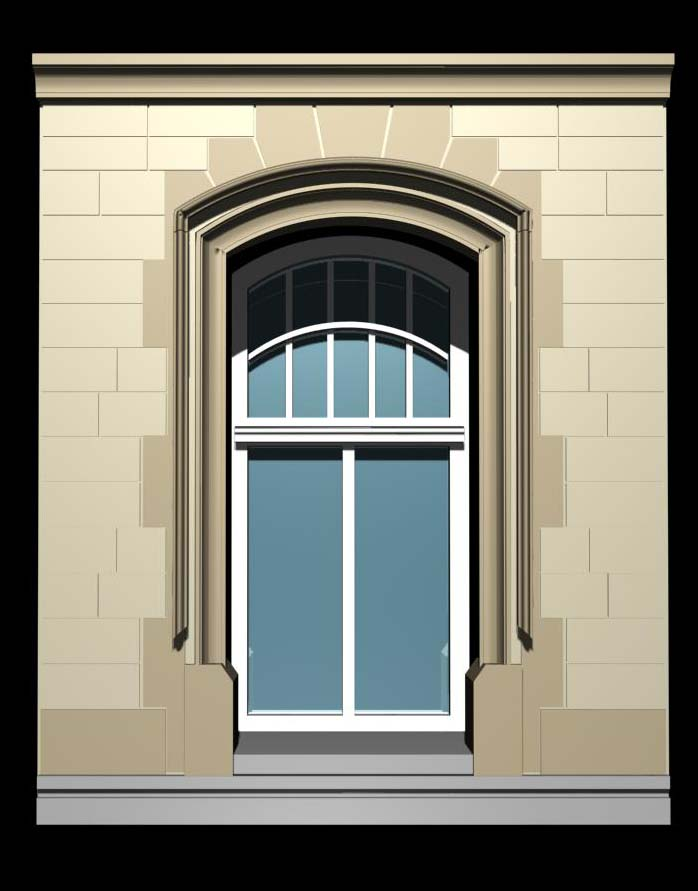 Luxemburg architecture windows collection 3d model for Architecture windows