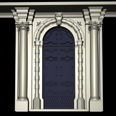 Vatican Architecture Door collection 3D Model