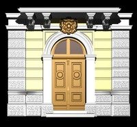Austria Architecture Door collection 3D Model