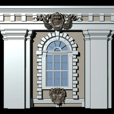 Austria Architecture Windows collection 3D Model