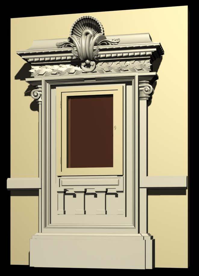 monaco architecture windows collection 3d model. Black Bedroom Furniture Sets. Home Design Ideas