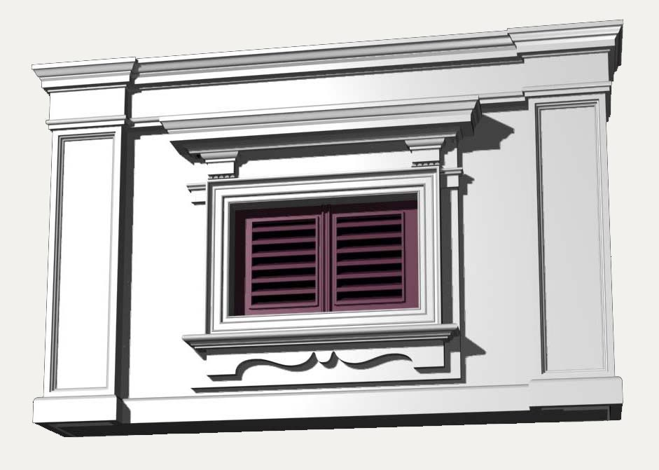 Italy architecture windows collection 3d model for 20 40 window