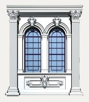 Italy Architecture Windows collection 3D Model