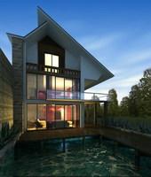 Architecture 074 -- villadom 3D Model