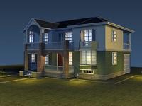 Architecture 083  -  villadom 3D Model