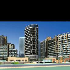 Architecture 126 High Rise Residential Building 3D Model