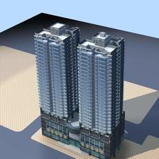 Architecture 127 High Rise Residential Building 3D Model