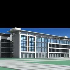 Architecture 132 School Building 3D Model