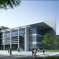 Architecture 133 School Building 3D Model