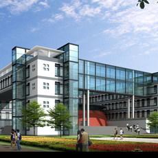 Architecture 135 School Building 3D Model