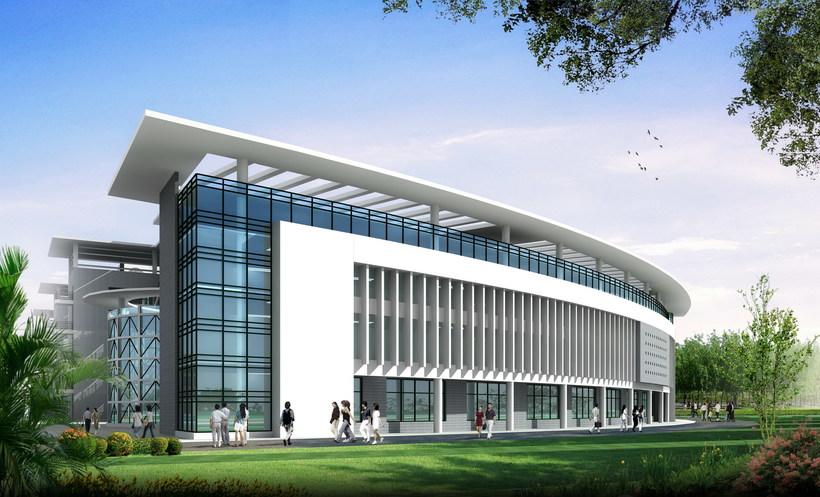 Architecture 136 School Building 3D Model