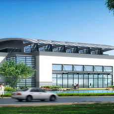 Architecture 137 School Building 3D Model