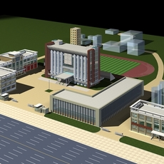 Architecture 139 Office Building 3D Model