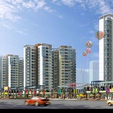 Architecture 140 High Rise Residential Building 3D Model