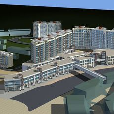 Architecture 141 High Rise Residential Building 3D Model