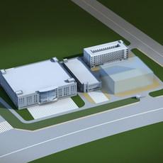 Architecture 143 office Building 3D Model