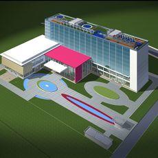 Architecture 144 office Building 3D Model