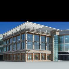 Architecture 145  Commercial Building 3D Model