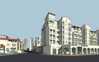 Architecture 149 High Rise Residential Building 3D Model