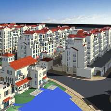 Architecture 150 High Rise Residential Building 3D Model