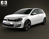 Volkswagen Golf 5-door GTI 2014 3D Model
